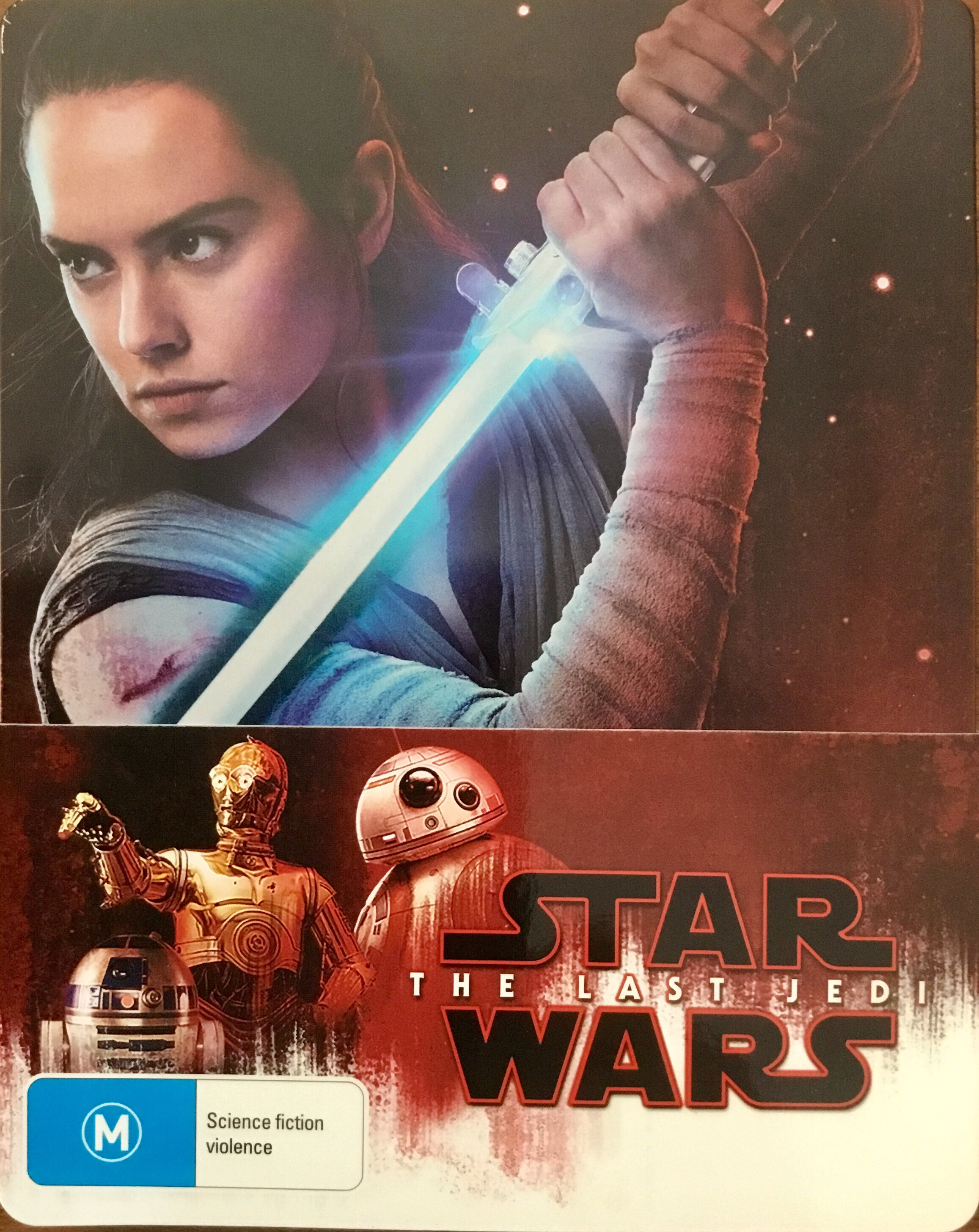 The cover of the Steelbook edition of Star Wars: The Last Jedi