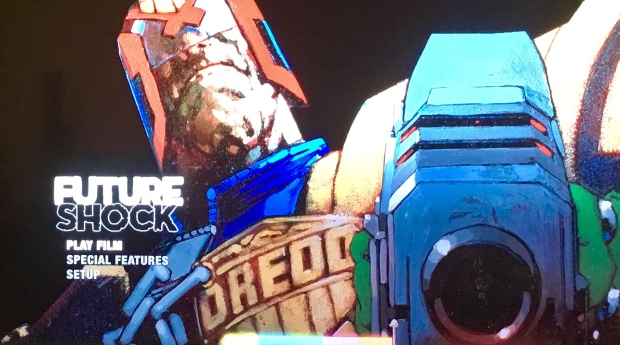 The menu screen for the Bluray Of Future Shock