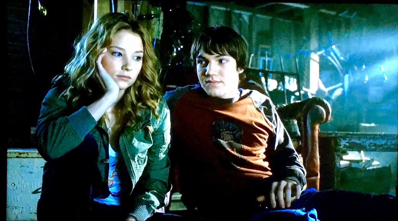 Dane and Julie (Haley Bennett) discuss the dangers of their open hole.